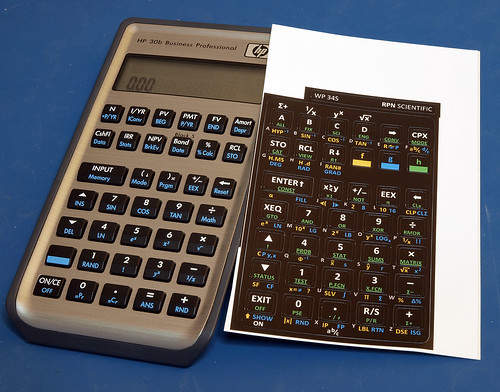 DIY wp34s calculator (hp30b)
