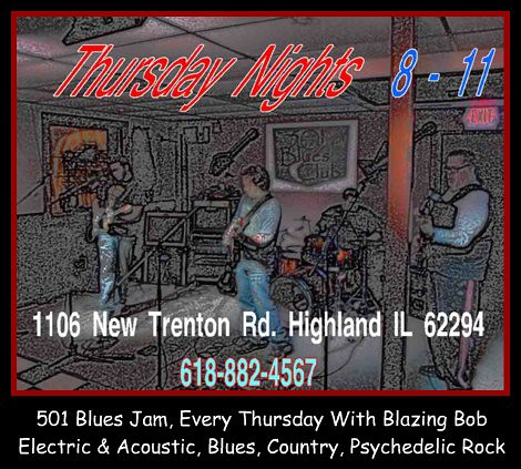 501 blues jam Every Thursday, 8-11