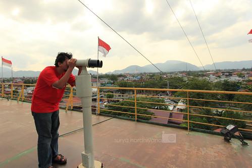 Anjungan di atas Kapal PLTD Apung