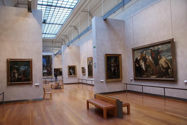 Aménagement des salles du musée des Beaux Arts à Lyon.