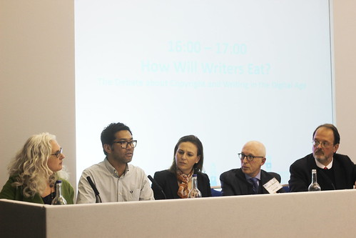 Kate Pullinger, Eric Huang, Lucy Montgomery, Laurence Kaye, José Borghino - London Book Fair 2014