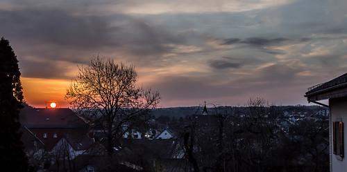 light sunset sky orange sun canon landscape eos soleil spring shot coucher 1100 1100d