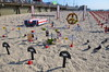 Arlington West in Santa Monica - #ArlingtonWest #SantaMonica #war #memorialday #beach by Steve Rhodes