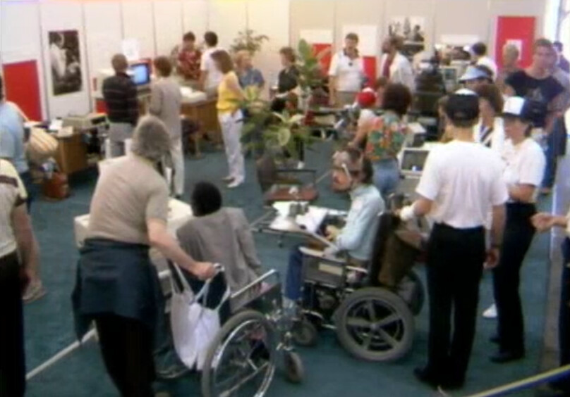 Photograph of Neil Squire Foundation's presence at Expo 86