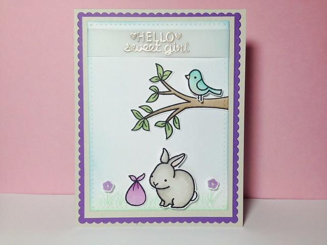 """Hello Sweet Girl"" Card"