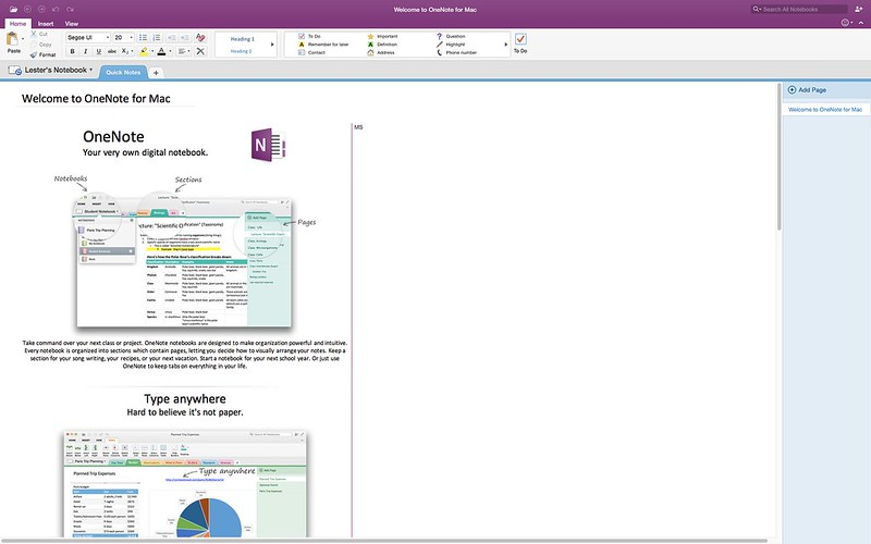 OneNote - Microsoft Office 2016 For Mac