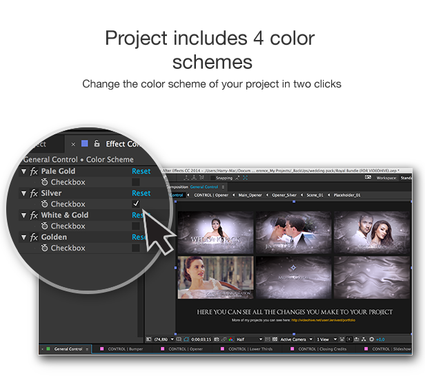 Wedding Pack By Jenivest VideoHive - Awesome slideshow after effects scheme