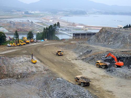 Rikuzentakata Post-earthquake Reconstruction 陸前高田市震災復興事業 今泉地区 重ダンプトラック