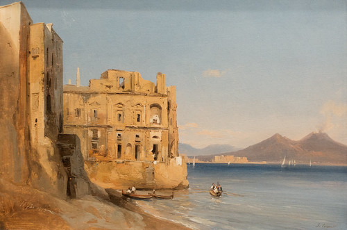 Jules Coignet, The Palace of Donn'Anna, Naples, 1843