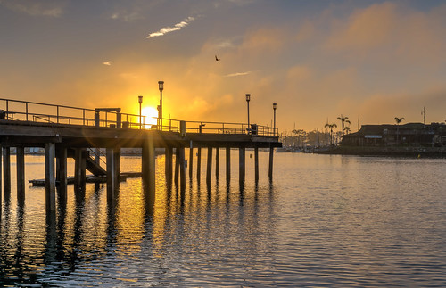 california danapoint danapointharbor hdr nikon nikond5300 clouds geotagged light morning ocean orange pier sky sun sunrise water unitedstates reflection reflections