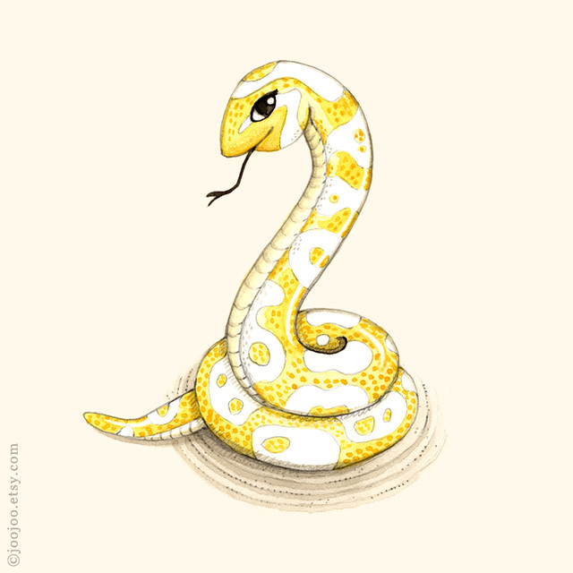 Snake Watercolor Painting