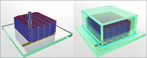 3D-печать крошечной литиевой батареи заснята на видео