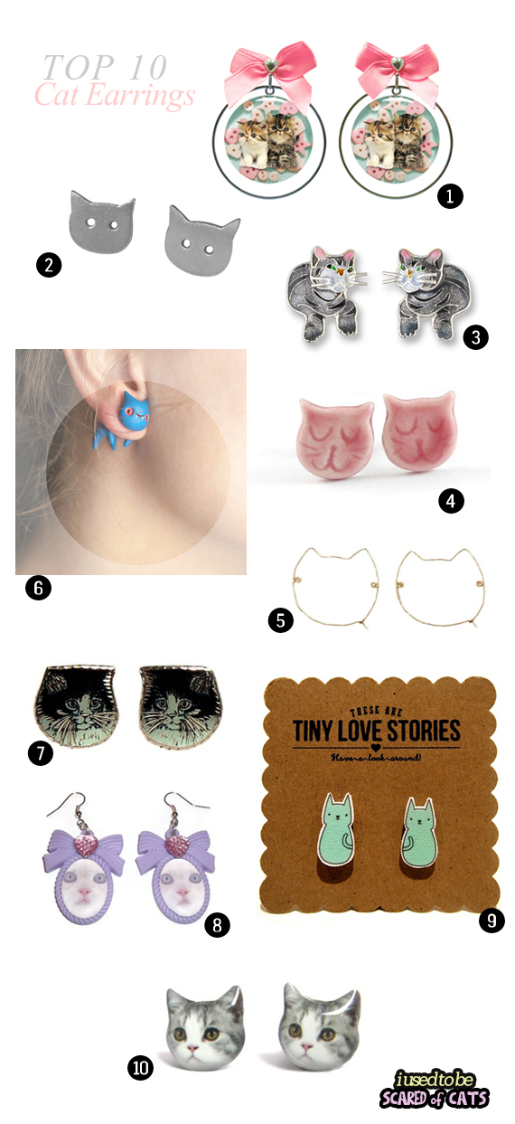 top 10 cat earrings