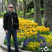Bill in the Tulip Gardens of the Topkapi Palace