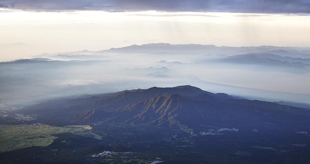 View of Shizuoka Prefecture from Mt. Fuji