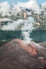 Gunung Barujari (Finger Mountain) - very active crater cone of Mount Rinjani