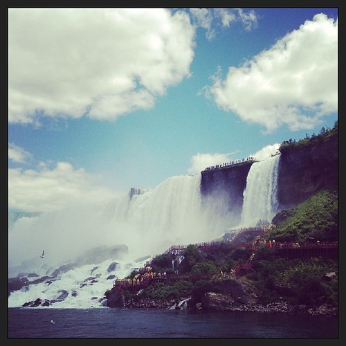 #view of #caveofthewinds from #maidofthemist #boat in #niagarafalls US! #sevenwondersoftheworld