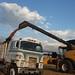 Dumping seed wheat on Farmer Kalvin's truck!