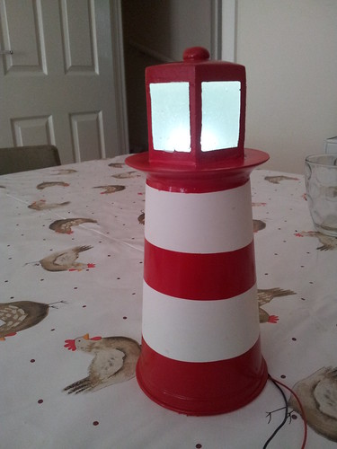 Spray painted lighthouse model