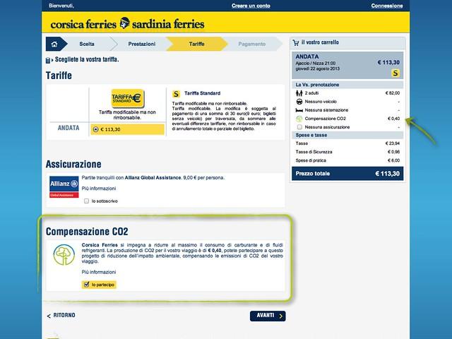 Compensazione CO2 Corsica Ferries
