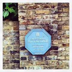 Photo of Eadweard Muybridge blue plaque