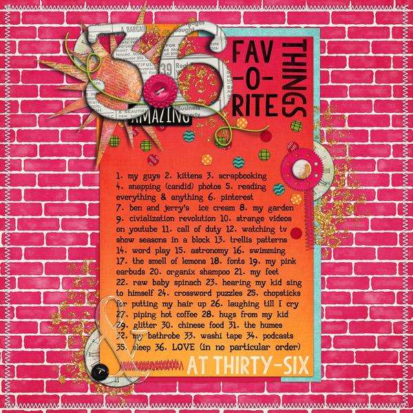 36 Fav-o-rite Things