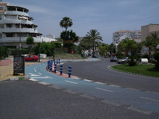 Estepona roundabout with cycle lane