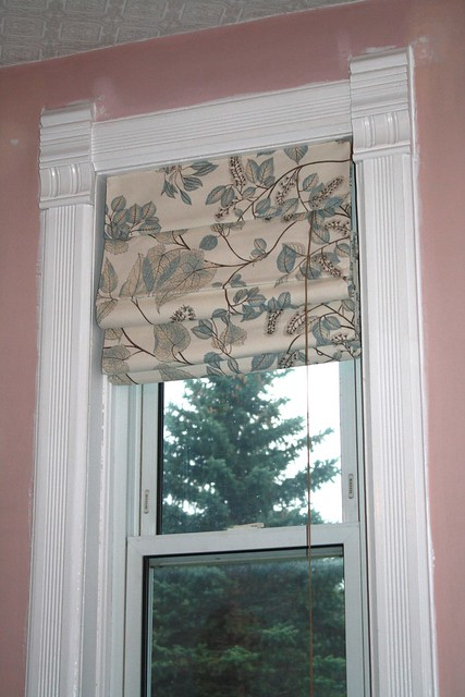 DIY custom roman shade