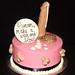 pink & black penis cake