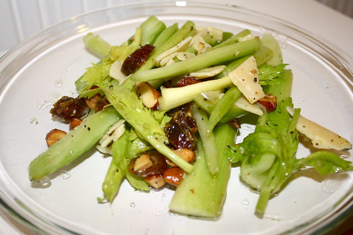 Celery Salad with Dates, Almonds and Parmesan Anne