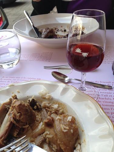 Poulsard wine Arbois. Drank in Arbois.