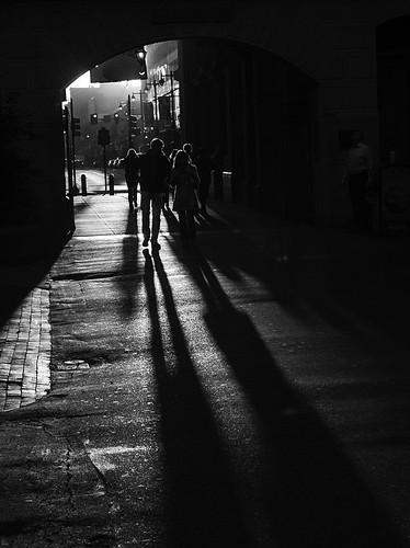 city morning shadow urban blackandwhite bw usa philadelphia monochrome silhouette america sunrise walking couple unitedstates pennsylvania centercity courtyard pa pedestrians philly grayscale cityofbrotherlylove philadelphiacityhall downtownphilly phillyhenge