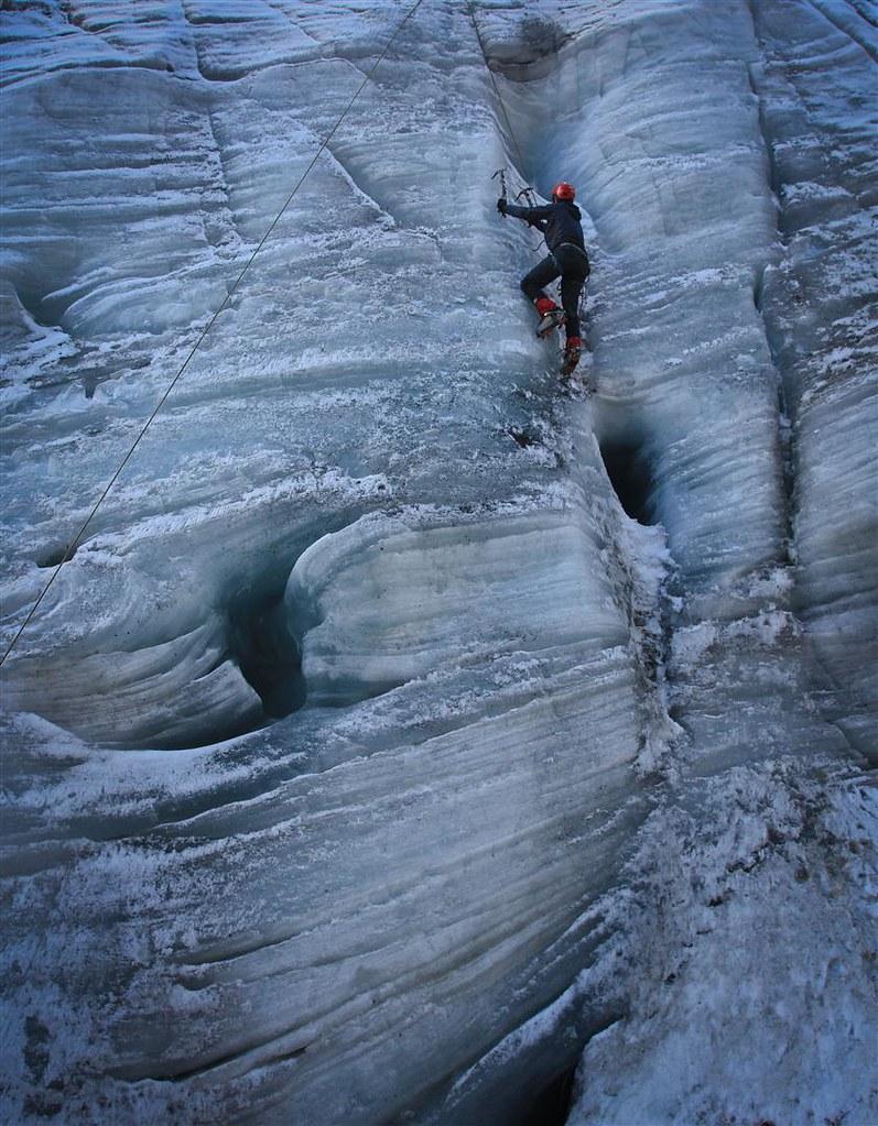 Your turn, amigo! Yanapaccha glacier. Cordillera Blanca. Peru.
