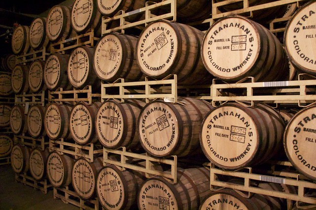 Barrels of Stranahan's Whiskey