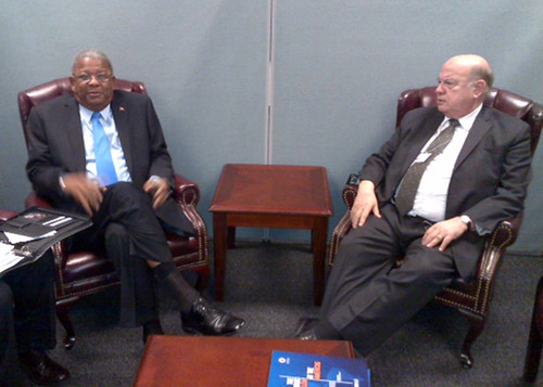 Secretary General Insulza Met with Prime Minister of Antigua and Barbuda
