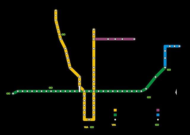 Mapa Metrô Toronto