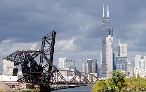 Drawbridges and Chicago from 18th Street