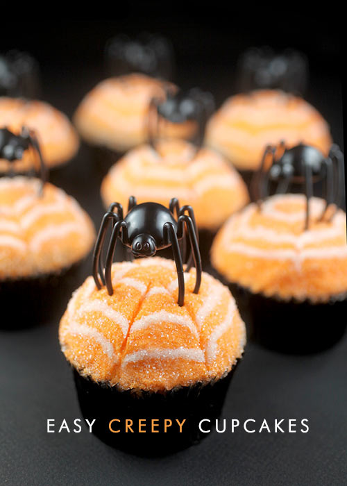 Easy Creepy Cupcakes