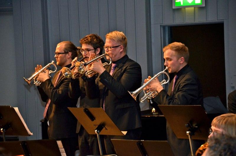 Lilla Brassbandfestivalen 2013 - Gustav Thoursie, Gustav Stenseke, Alexander Forsberg och Per Engström, SYBB