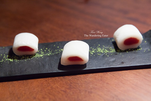 Course 16 - Fresh mochi filled with strawberry jelly