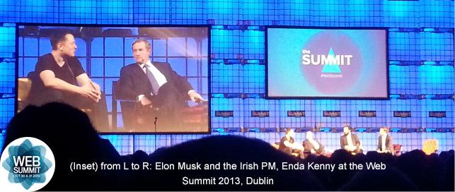 Elon Musk, Irish PM Enda Kenny, Shervin Pishevar & Mark Little at the