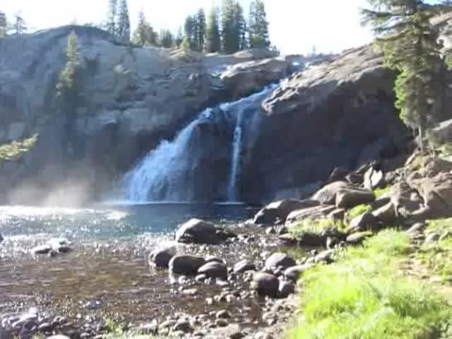 3976 Video of White Cascade Falls at Glen Aulin High Sierra Camp