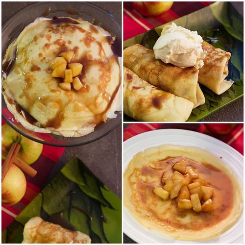 Apple Pie Crepes with Rum Butterscotch Sauce @captainmorgan #CaptainsTable