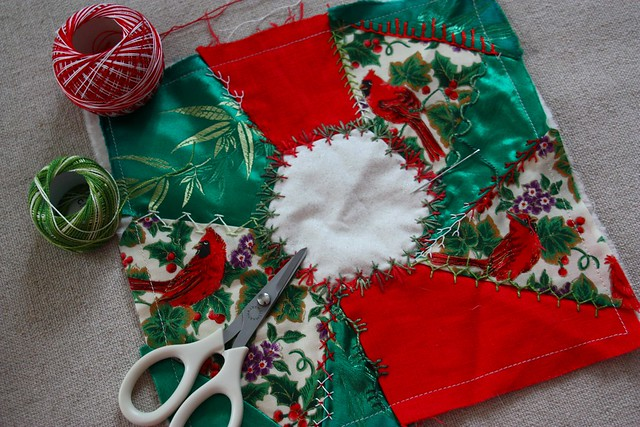 Christmas Pincushion WIP