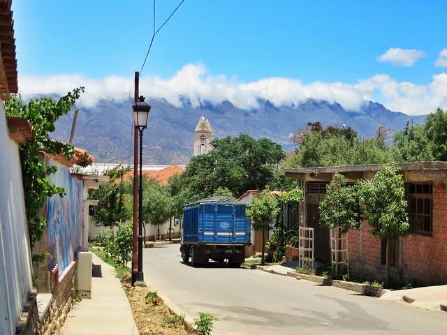 A street scene in Concepcion, Bolivia