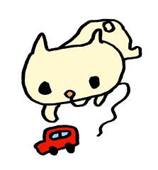 あどけないむー、車をいじる