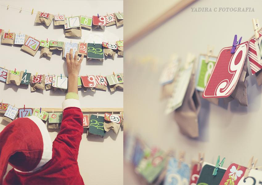 Calendario de adviento - esperando a Papa Noel