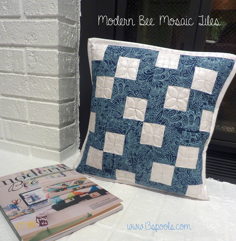 Mosaic Tiles QAL pillow