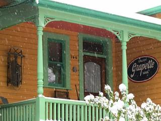 Snowy porch