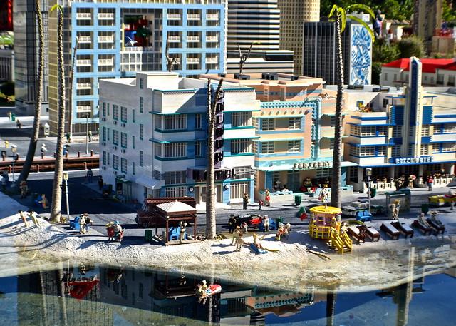 Legoland, Florida - Miniland - Miami Beach Sunbathing